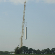 2020-04-23 Eoliennes - Montage du mât