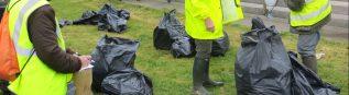 200 kgs d'ordures ont été récoltés sur le bord des routes de la commune